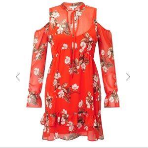 Dresses & Skirts - Red Smock Floral Dress